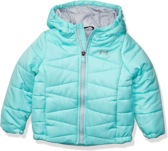 Under Armour Baby Girls' Little ColdGear Prime Puffer Jacket, neo Turquoise F, 5