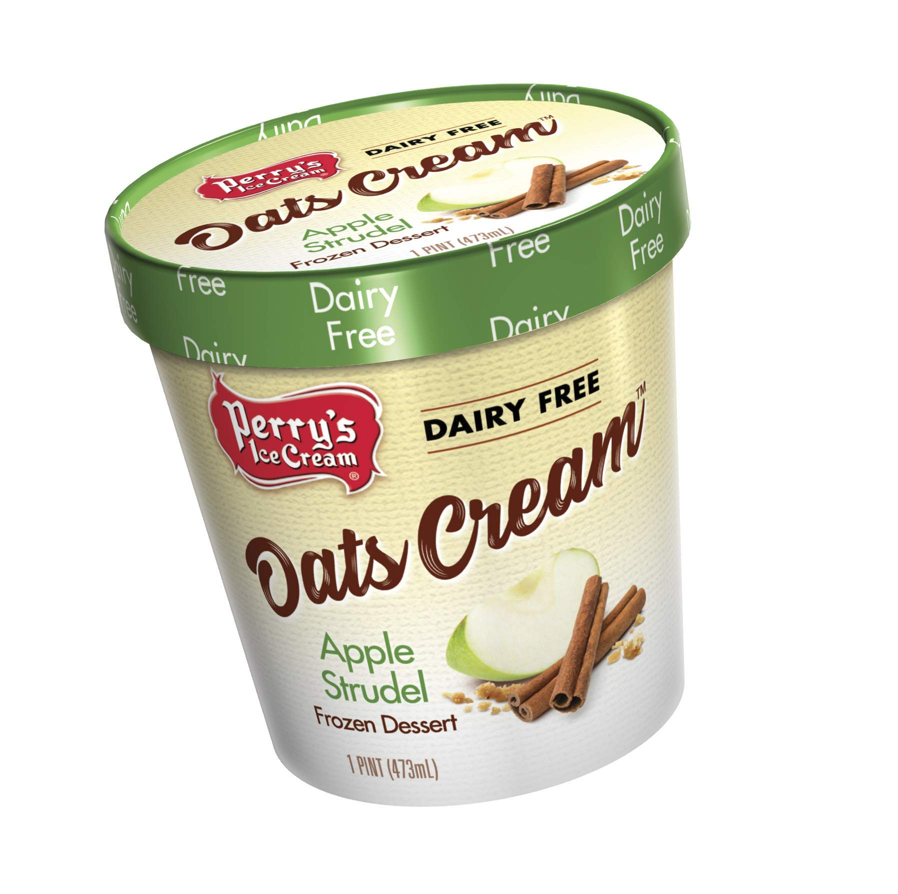 Perry's Ice Cream, Pint, Oats Cream, Apple Strudel - Pack of 8