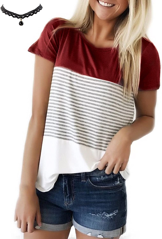 TALLA S. UUAISSO Mujeres Camisetas T Shirt Manga Corta Labios Túnica Casual Blusas Camisas Tops