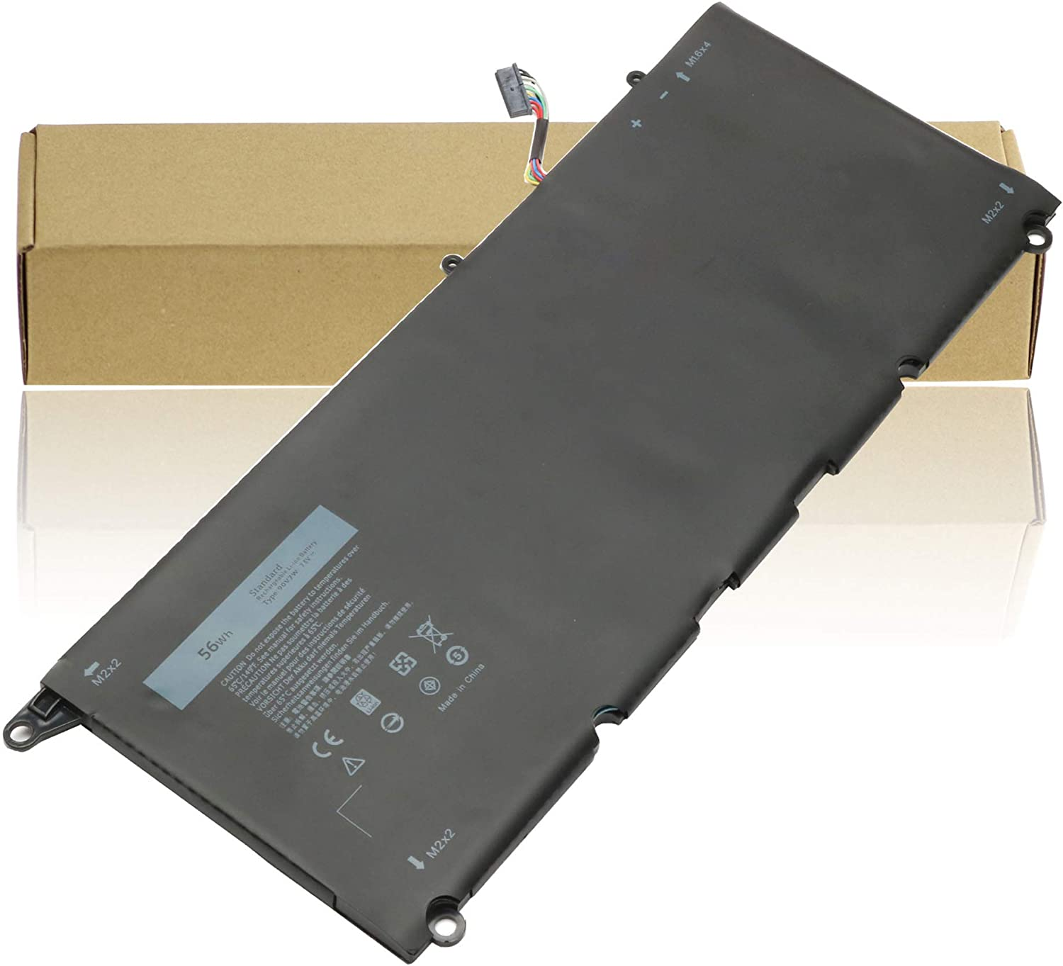 JD25G 90V7W Laptop Battery Compatible with Dell XPS 13 9343 9350 13D-9343 5K9CP DIN02 0DRRP JHXPY 0N7T6 RWT1R 13D-9343-1808T Notebook Battery 56WH 7.6V 4-Cell