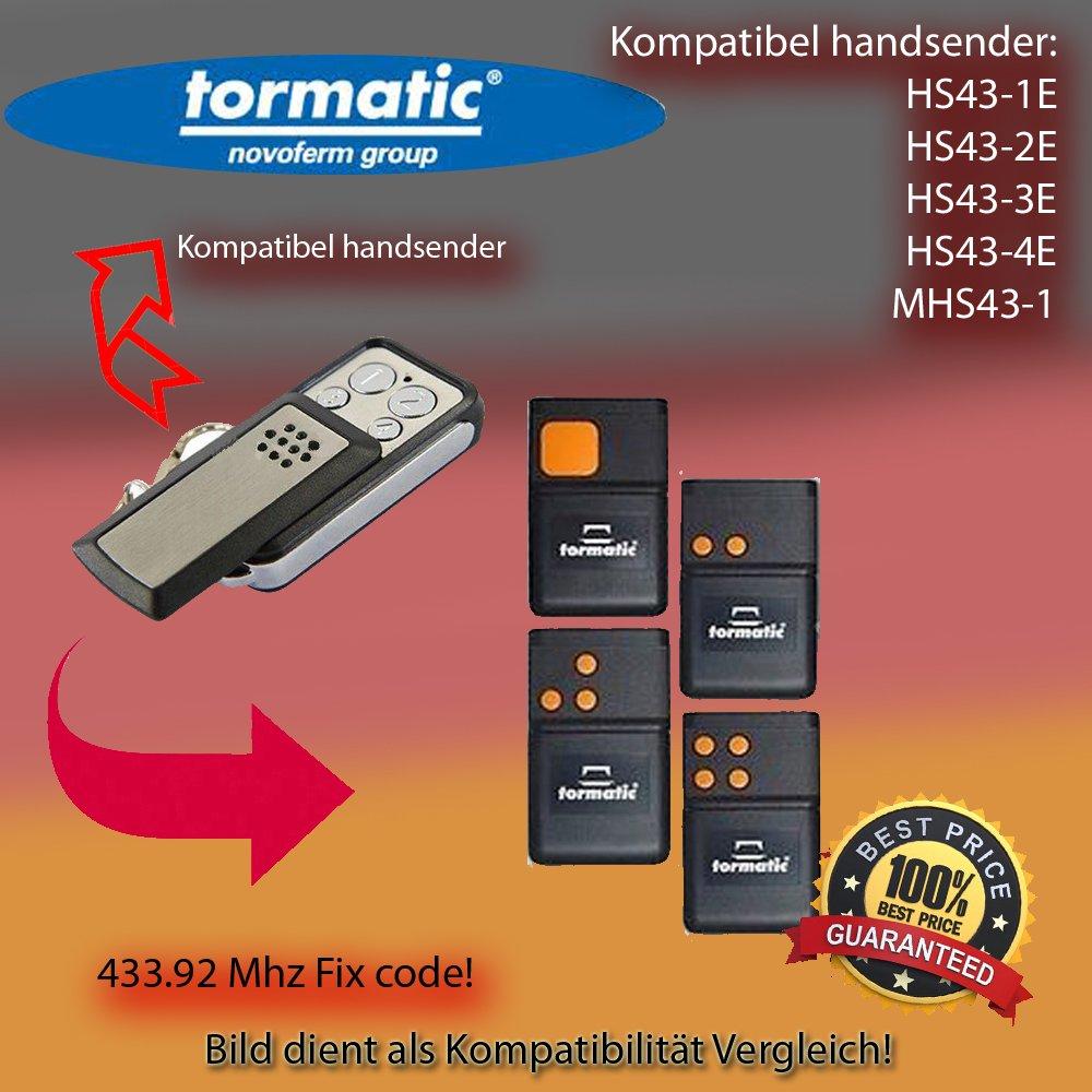 Tormatic HS43-1E / HS43-2E / HS43-3E / HS43-4E / MHS43-1 Kompatibel Handsender ersatz, klone