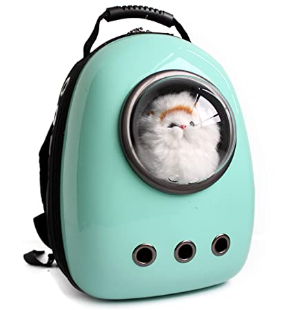 ZSY Astronauta Cápsula Mochila para Mascotas Aerolínea Aprobado Transparente Respirable Venthole Perro Portador de Gato Bolso portátil Viaje al Aire Libre ...