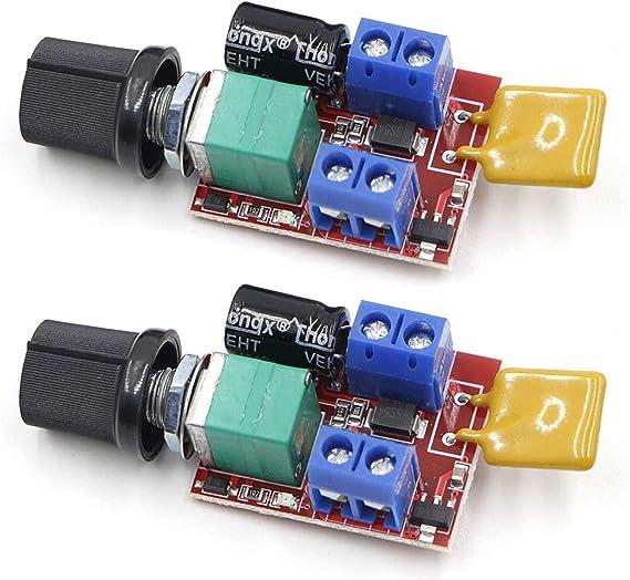 5A 3~35V 12V 24V PWM DC Motor Speed Controller Adjustable Switch LED Fan Dimmer
