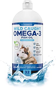 PetHonesty 100% Natural Omega-3 Fish Oil for Dogs from Iceland - Omega-3 for Dogs - Pet Liquid Food Supplement - EPA + DHA Fatty Acids Reduce Shedding & Itching - Supports Joints, Brain & Heart Health