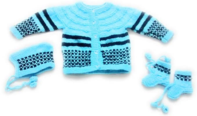 5fec47829 New Jain Traders Baby Boy s   Girl s Woolen Knitted Sweater Set(0-3 ...