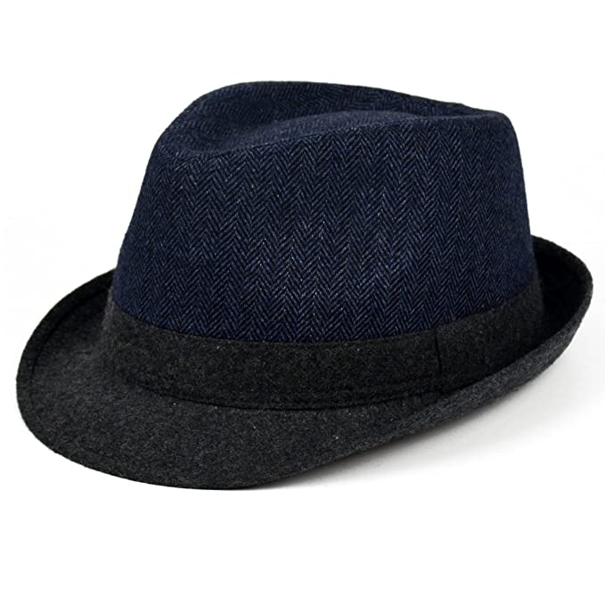 56d82c55e78 CCMHAT Simplicity Unisex Timelessly Classic Manhattan Fedora Hat Patchwork  Color: Amazon.ca: Clothing & Accessories