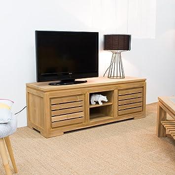 Mobile TV legno in teak Zen 140: Amazon.it: Casa e cucina