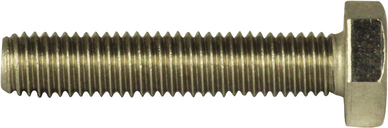 Sechskantschrauben DIN 933 Maschinenschrauben mit Vollgewinde Sechskant-Schrauben V2A D/´s Items/® Gewindeschrauben - 20 St/ück M5x12 Edelstahl A2 -