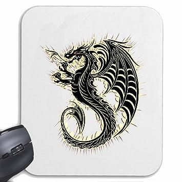 """Mousepad alfombrilla de ratón """"DRAGON DRAGON FIRE DRAGON CHINA VIDA DE MANERA STREETWEAR HIPHOP"""