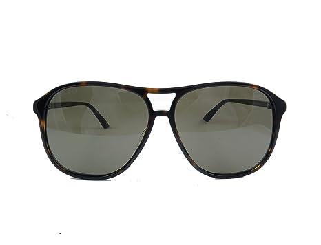 3c542b686f1 Amazon.com  Gucci Design Sunglasses GG0016S 003 Havana Brown Gold ...
