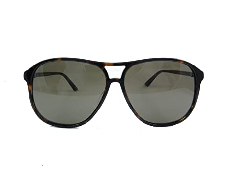 112aaf21db5 Amazon.com  Gucci Design Sunglasses GG0016S 003 Havana Brown Gold ...