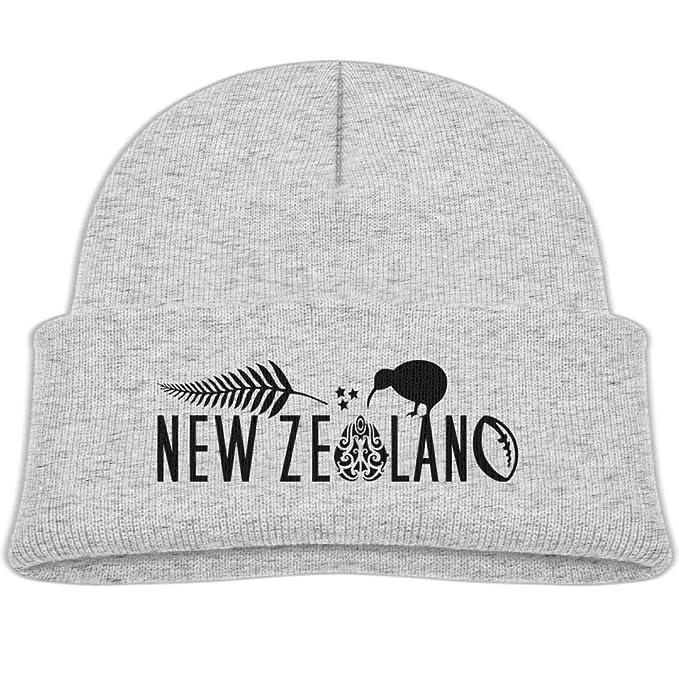 ce7b51ac65d Qiop nee Beanie Hats Wool Skull Cap New Zealand Fern Rugby Chick Boy Girls  Baby Soft