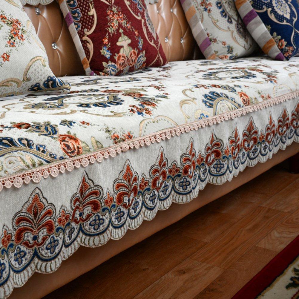 WXYJYJYJY Scivolare I Cuscini del Divano Divano Imbottito in Stile Americano Asciugamano Divano-C 90x220cm(35x87inch)