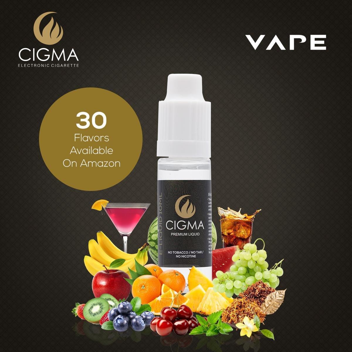 Cigma 5 X 10ml E Liquid Sweet Mix New Flavours Bubble Gum Tutti Og Milk Tea Max Vg Usa Premium Eliquid Frutti Lemon Soda Butterscotch Cola Quality Formula With Only High Grade