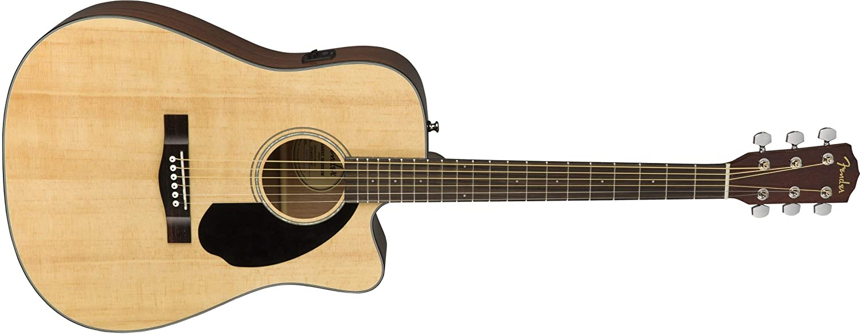 Fender CD-60SCE Dreadnought - Guitarra acústica, color natural: Amazon.es: Instrumentos musicales