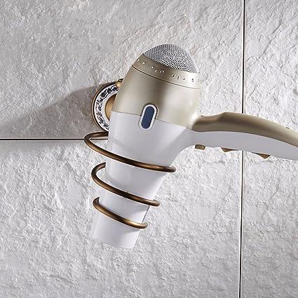 ZYZX Baño Estante de Pared del Cilindro de Almacenamiento Rack Vintage Cobre Antiguo Europeo Rack secador