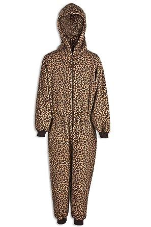 a7aee63668458 Camille Combinaison pyjama - motif imprimé léopard - enfant - marron 12-14  Years