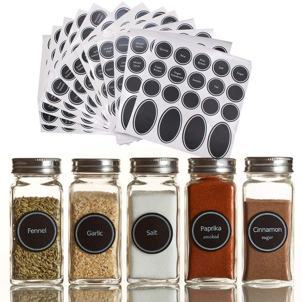 Chalkboard Labels Round Stickers Write-on Labels-Pantry and Storage Stickers for Jars Anyren 320 Printed Spice Jar and Pantry Label Set