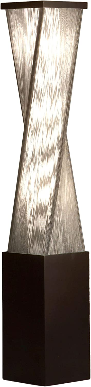 NOVA of California 11038 Torque Contemporary Accent Floor Lamp, One Size, Standing Light for Office Home Living Room Bedroom, Dark Brown
