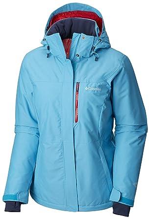 Columbia Chaqueta impermeable para mujer, Alpine Action OH Jacket, Nailon, Azul (Atoll), Talla S, 1562241