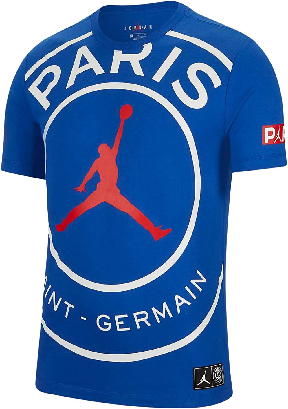 Jordan Paris Saint Germain Psg Jumpman Logo T Shirt Bq8384 480 At Amazon Men S Clothing Store