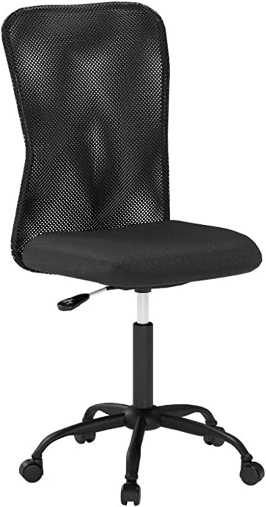 Amazon Com Home Office Desk Chair Modern Ergonomic Computer Chairs For Adults Mid Back Comfy Cute Swivel Mesh Office Chair Comfortable Armless Executive Office Chairs With Wheels For Home Bedroom Office Kitchen