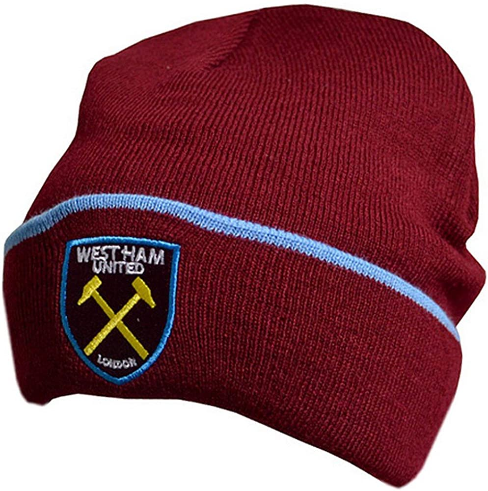 New For 2017 West Ham United Authentic Epl Claret Knit Hat