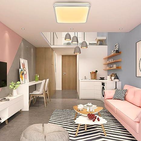 Hengda® 12W Blanco Cálido LED Moderno Lámpara De Techo LED plafón Iiluminación Interior Lámpara de salón Pasillo Cocina Dormitorio cocina y cuarto de ...
