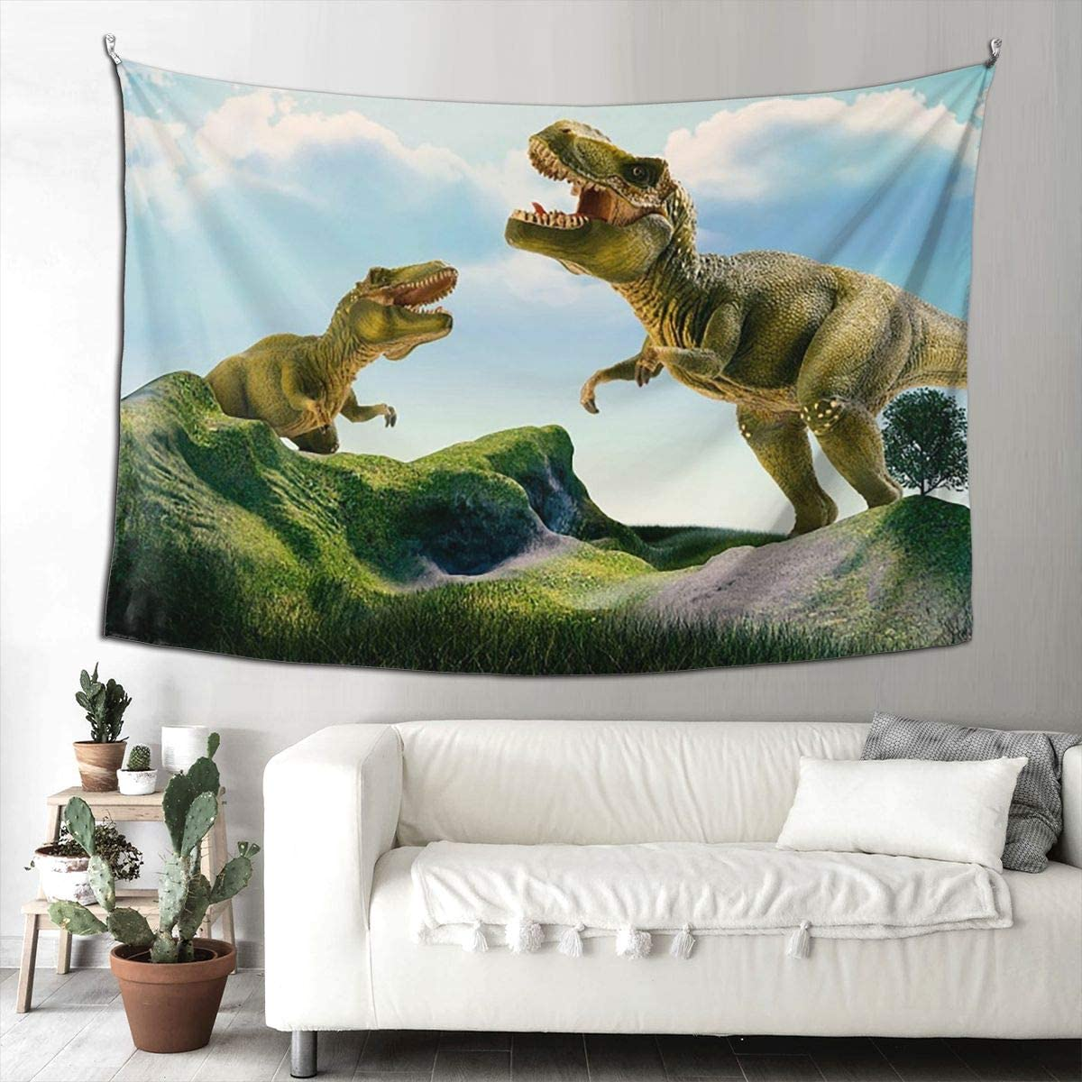 KiuLoam 3D Dinosaur Animal Design Artistic Tapestry Wall Art Hanging Tapestries Wall Blanket for Bedroom Living Room Doorway Wall Decor Tapestry 90×60 Inches