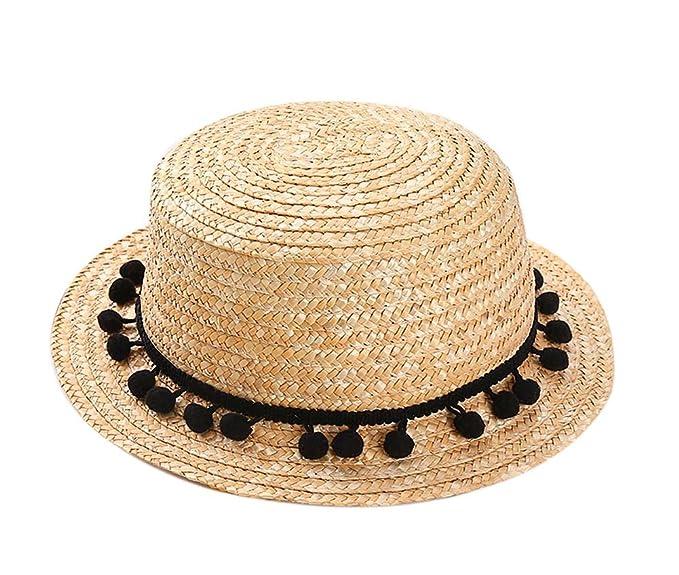 668b0a4b4a3 Baby Girl Hat Summer Beach Sun Hat Straw Hat 3-8 Year Old