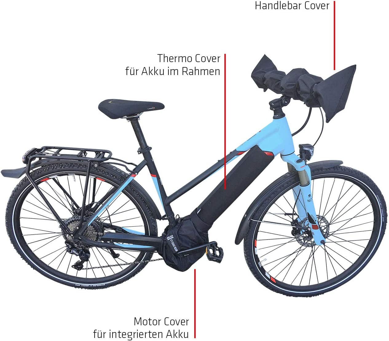 Adult Connect E-Bike Protective Case Standard for Battery in Lower Tube//Battery Thermal Cover//Neoprene//Black One Size NC-17 Unisex