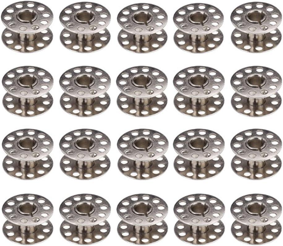 Chytaii 20pcs Metal Bobina Bolillo de Hilo Canillas Metal para Máquina de Coser Accesorios de Coser Manualidades Compartible con Varias Máquinas