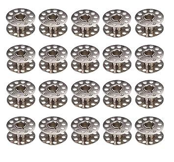 Chytaii 20pcs Metal Bobina Bolillo de Hilo Canillas Metal para Máquina de Coser Accesorios de Coser Manualidades Compartible con Varias Máquinas: Amazon.es: ...