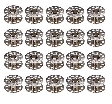 Chytaii 20pcs Metal Bobina Bolillo de Hilo Canillas Metal para Máquina de Coser Accesorios de Coser