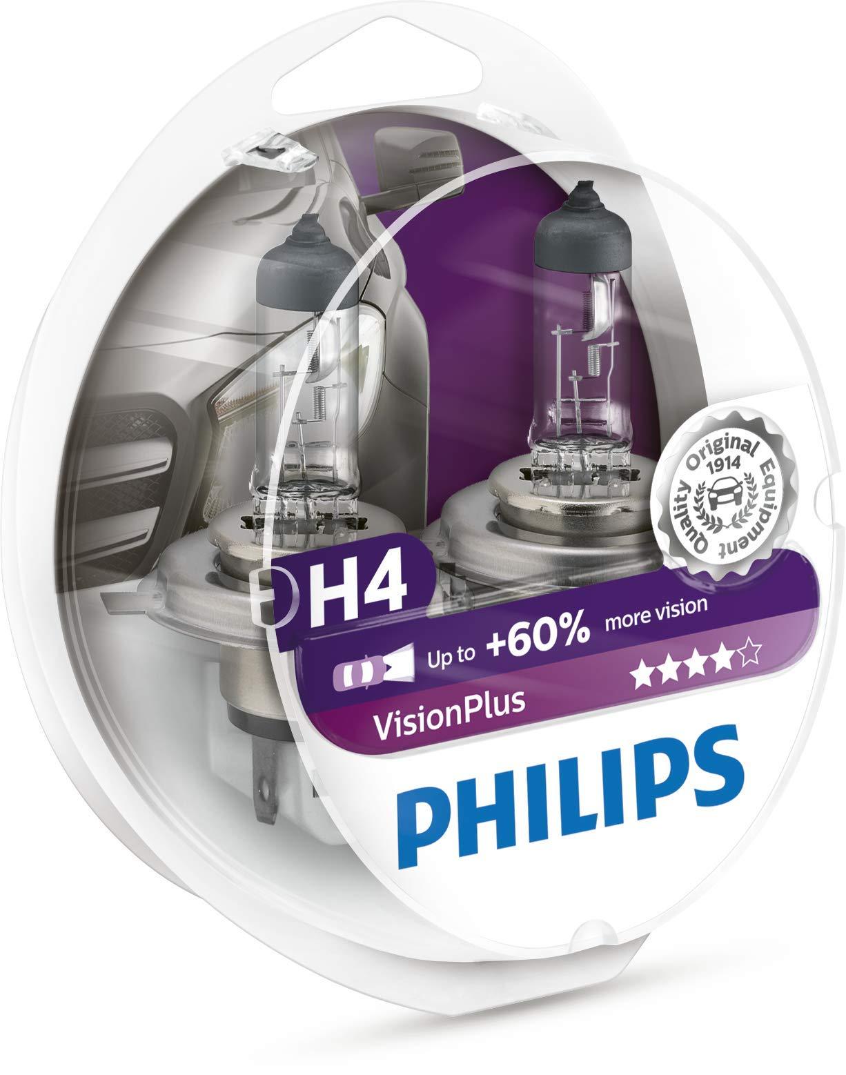 Philips 12342VPS2 VisionPlus - Bombillas H4 para faros delanteros (2 unidades) product image