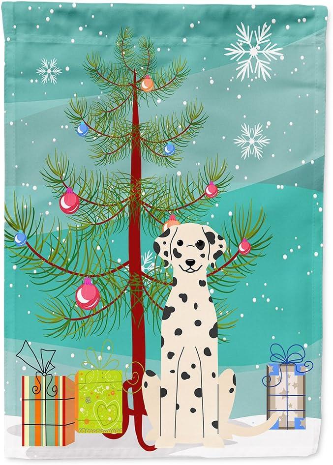Caroline's Treasures BB4222GF Merry Christmas Tree Dalmatian Flag Garden Size, Small, Multicolor