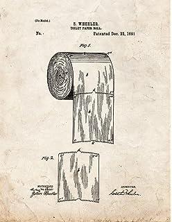 Amazon toilet paper roll patent print art poster blueprint 11 toilet paper roll patent print art poster old look 85 x malvernweather Choice Image