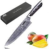 Kitchen Emperor Küchenmesser, Kochmesser 20 cm, Allzweckmesser Sehr Scharfe Klinge, Prämie Rostfreier Stahl Köche Messer mit pakakaholzgriff