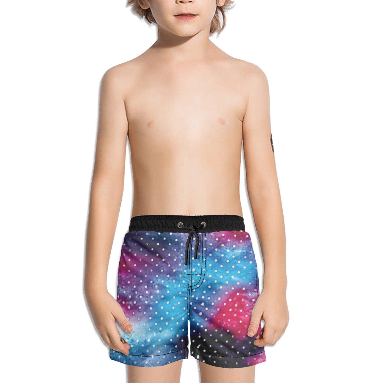 Ouxioaz Boys Swim Trunk Abstract Colorful Mini Dots Beach Board Shorts