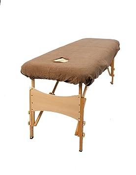 TowelsRus Aztex valor clásico cubierta Sofá de masaje con agujero en la cara Moca Cafe elástico: Amazon.es: Hogar
