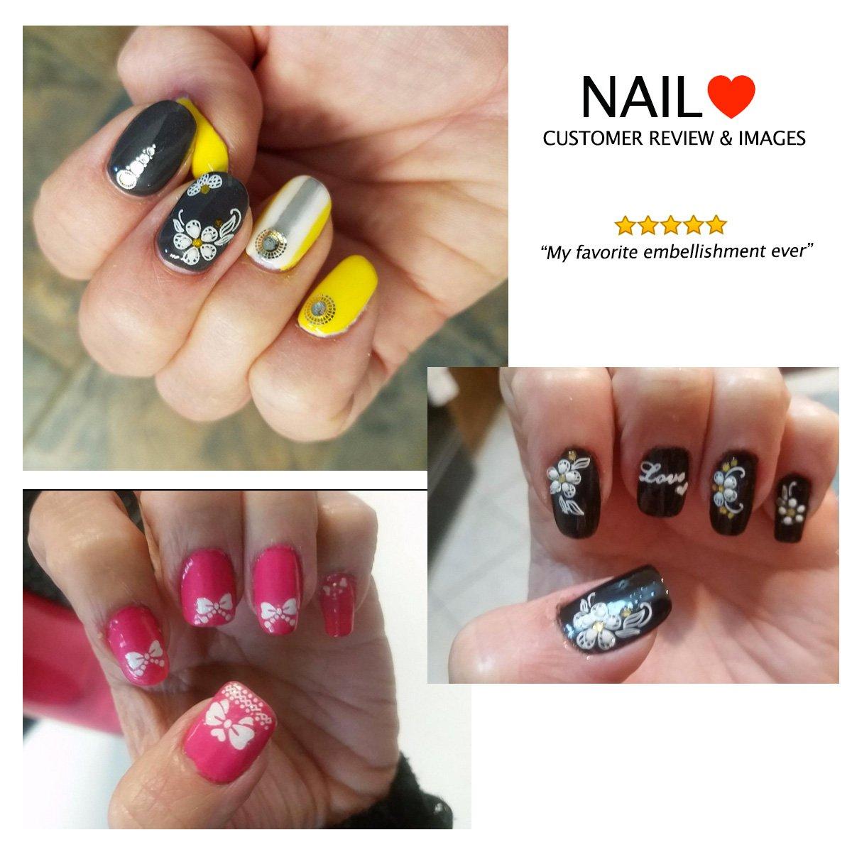 Amazon.com: ALLYDREW Fingernail Stickers Nail Art Nail Stickers Self ...