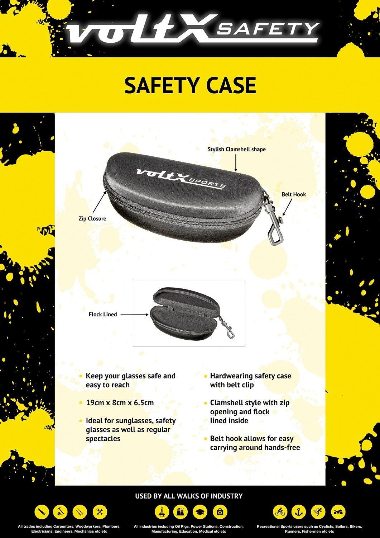 safety glasses Revestimiento antiempa/ñamiento TRANSPARENTE dioptria +1.0 voltX GT Gafas de seguridad de lectura bifocales adjustables con estuche Certificado CE EN166FT Lentes UV Clase 1