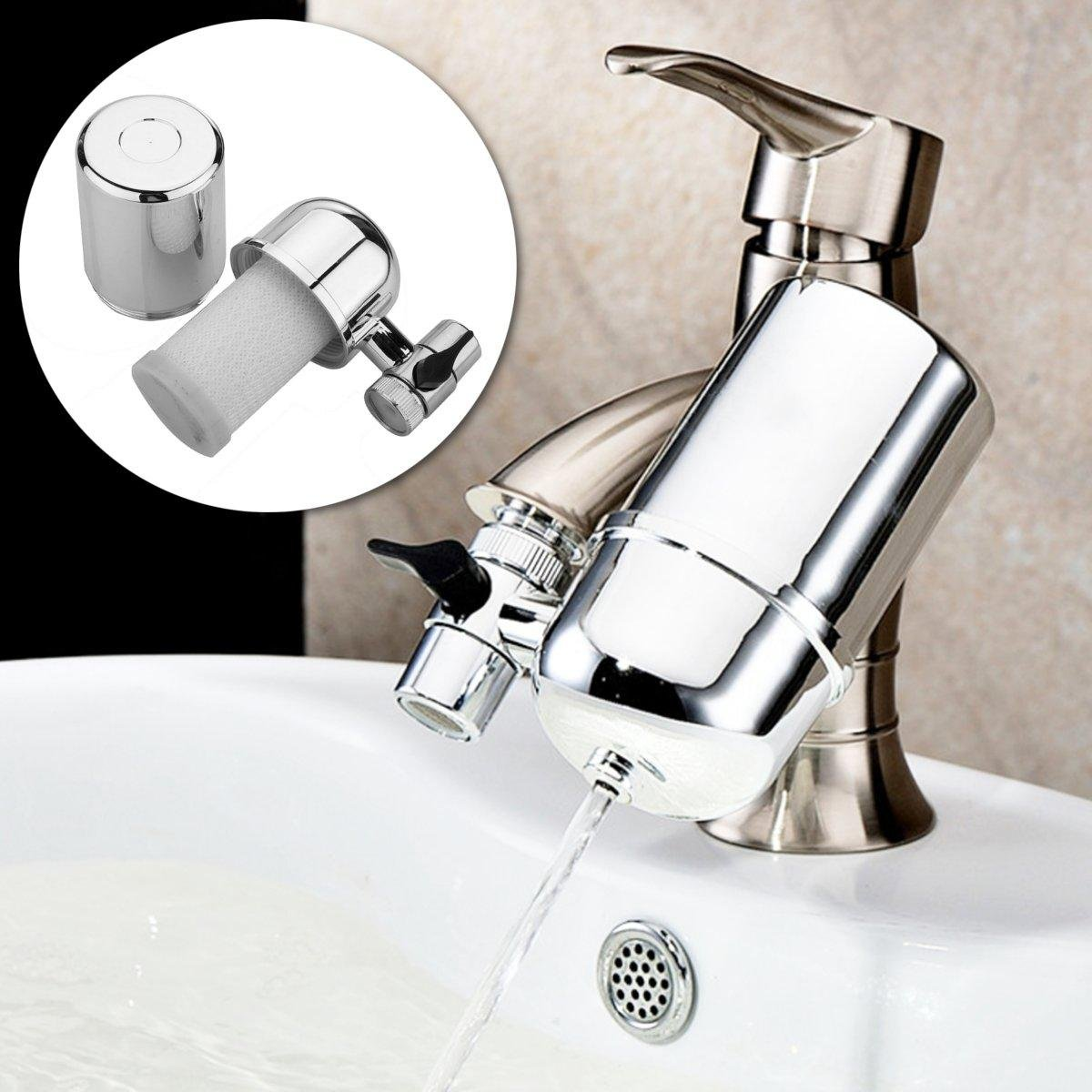 Kitchen Faucet Water Purifier - Bathroom Kitchen Water Filter Faucet Water Ionier Remove Water Contaminants Alkaline Tap Water Ceramic Cartridge Purifier (Faucet Water Purifier)