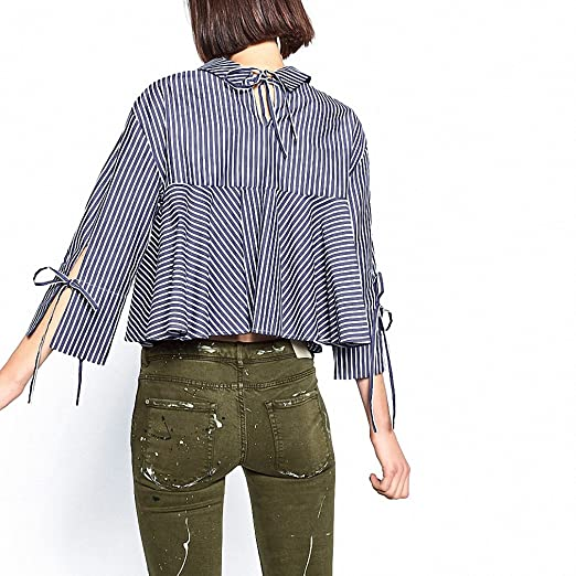 Plus Size Women Blouses NEW Brand New Spring Striped Shirt Women Clothing Embroider Womens Shirts Casual Camisa Blusas Feminina at Amazon Womens Clothing ...