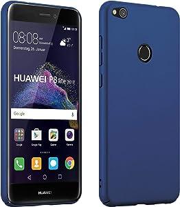 Cadorabo Funda para Huawei P8 Lite 2017 en Metal Azul - Cubierta Protección de Plástico Duro Super Delgada e Inflexible con Antichoque - Case Cover Carcasa Protectora Ligera