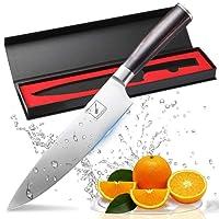 Couteau de cuisine, Imarku professionnelle 20 cm poignée ergonomique Couteau