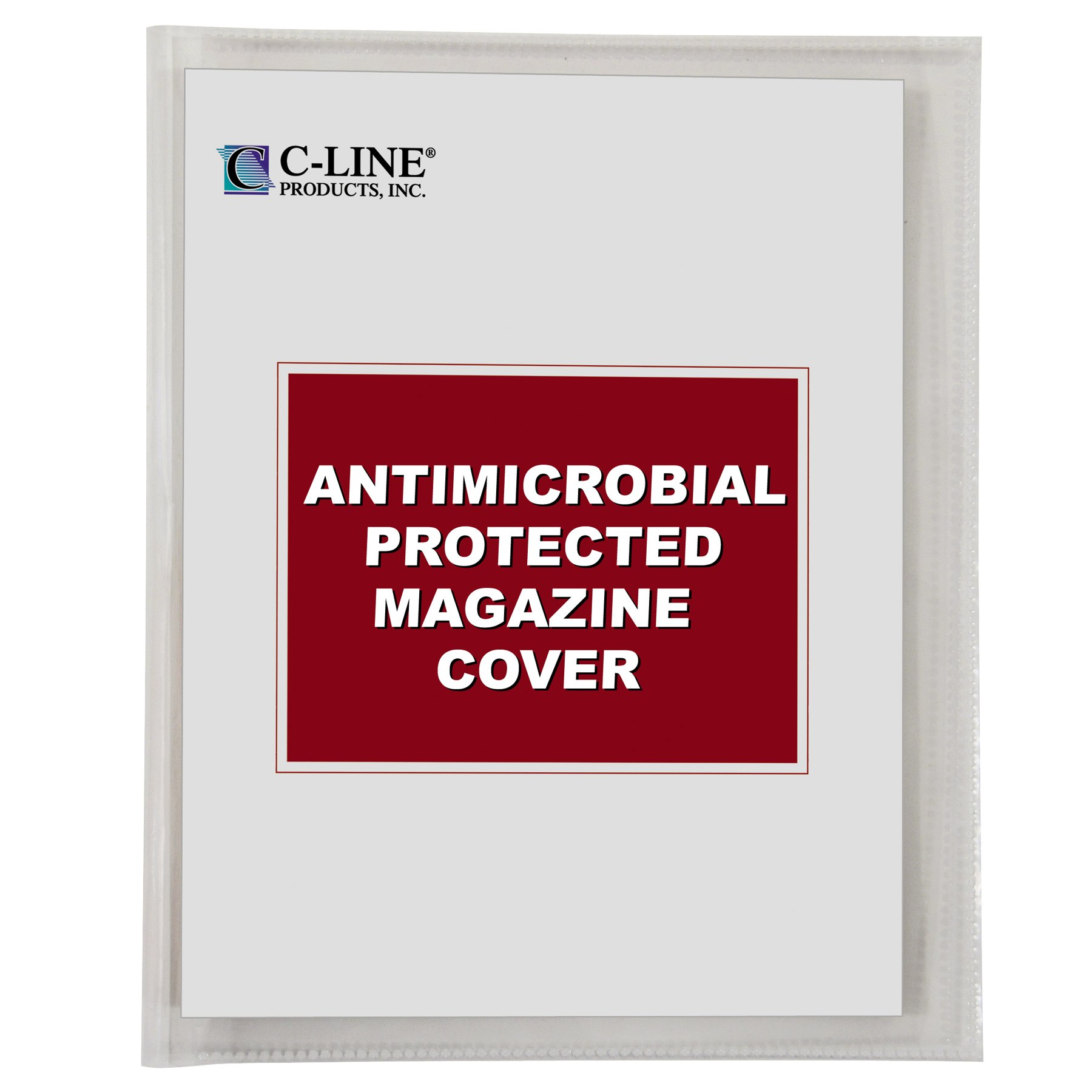 C-Line Magazine Cover with Antimicrobial Protection, Clear, 8-3/4'' x 11-1/4'', 25 per Box (56147)