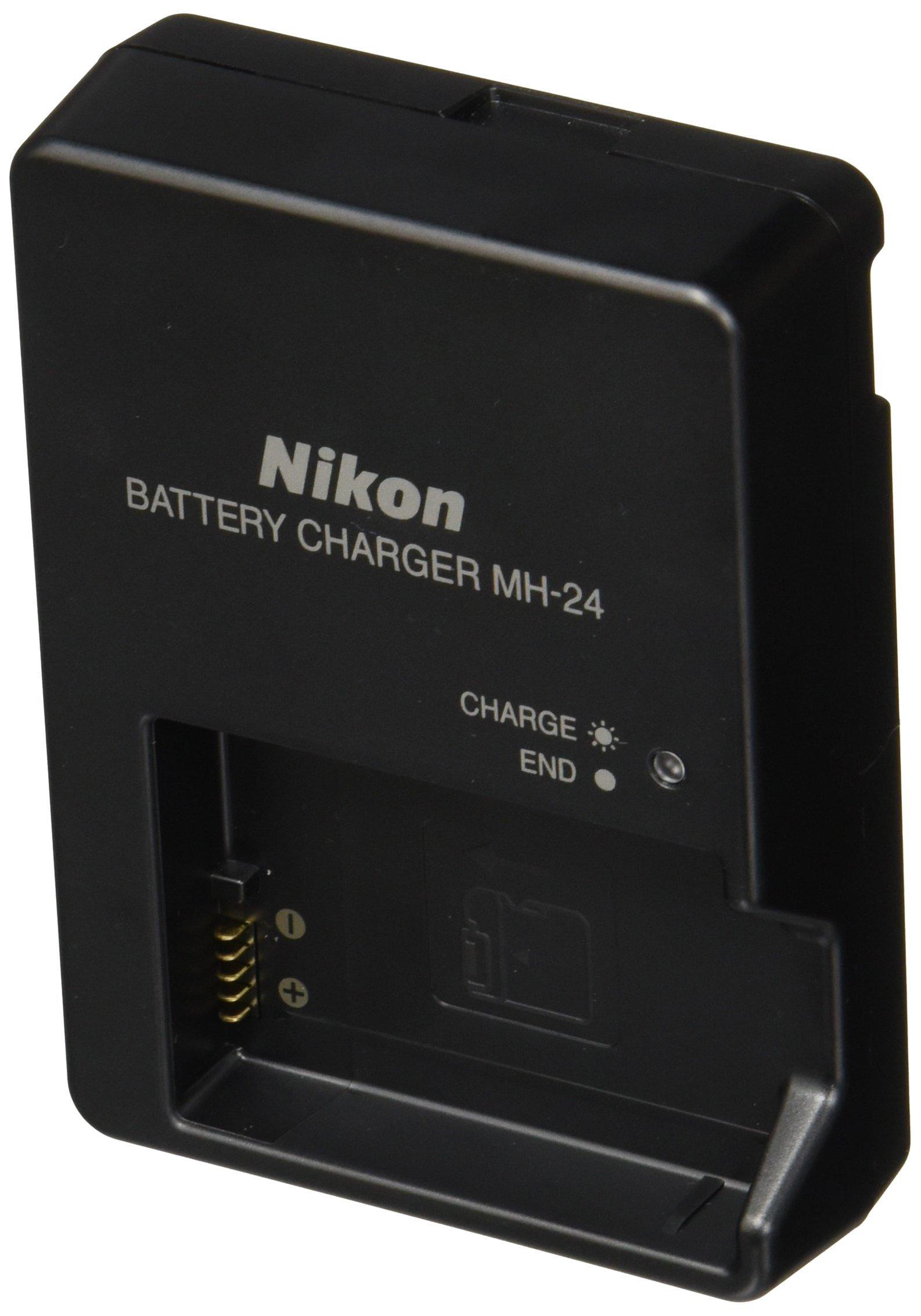 Nikon MH-24 Quick Charger for EN-EL14 Li-ion Battery compatible with Nikon D3100 DSLR, D5100 DSLR, and P7000 Digital Cameras by Nikon