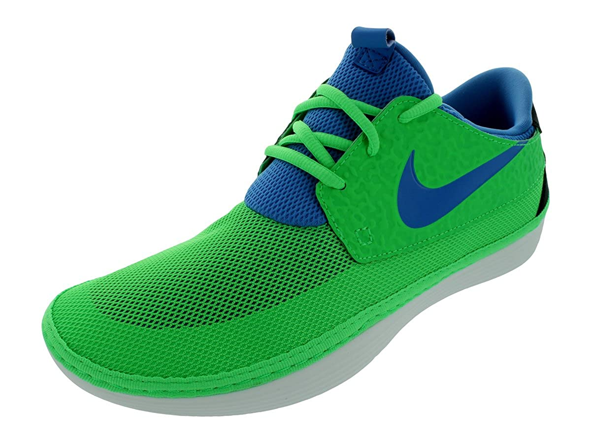 quality design 2ed56 2d82b Amazon.com   Nike Men s SOLARSOFT MOCCASIN COASTAL-INSPIRED SHOES 8 Men US  (POINSON GREEN BLITZ BLUE BLACK)   Running