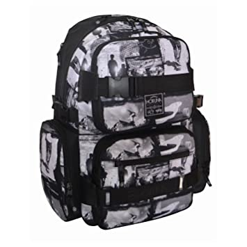 2b204cc94cab Hot Tuna Skate Photprint Backpack Balck Grey Rucksack Shoulder Carryall Bag  H  48cm